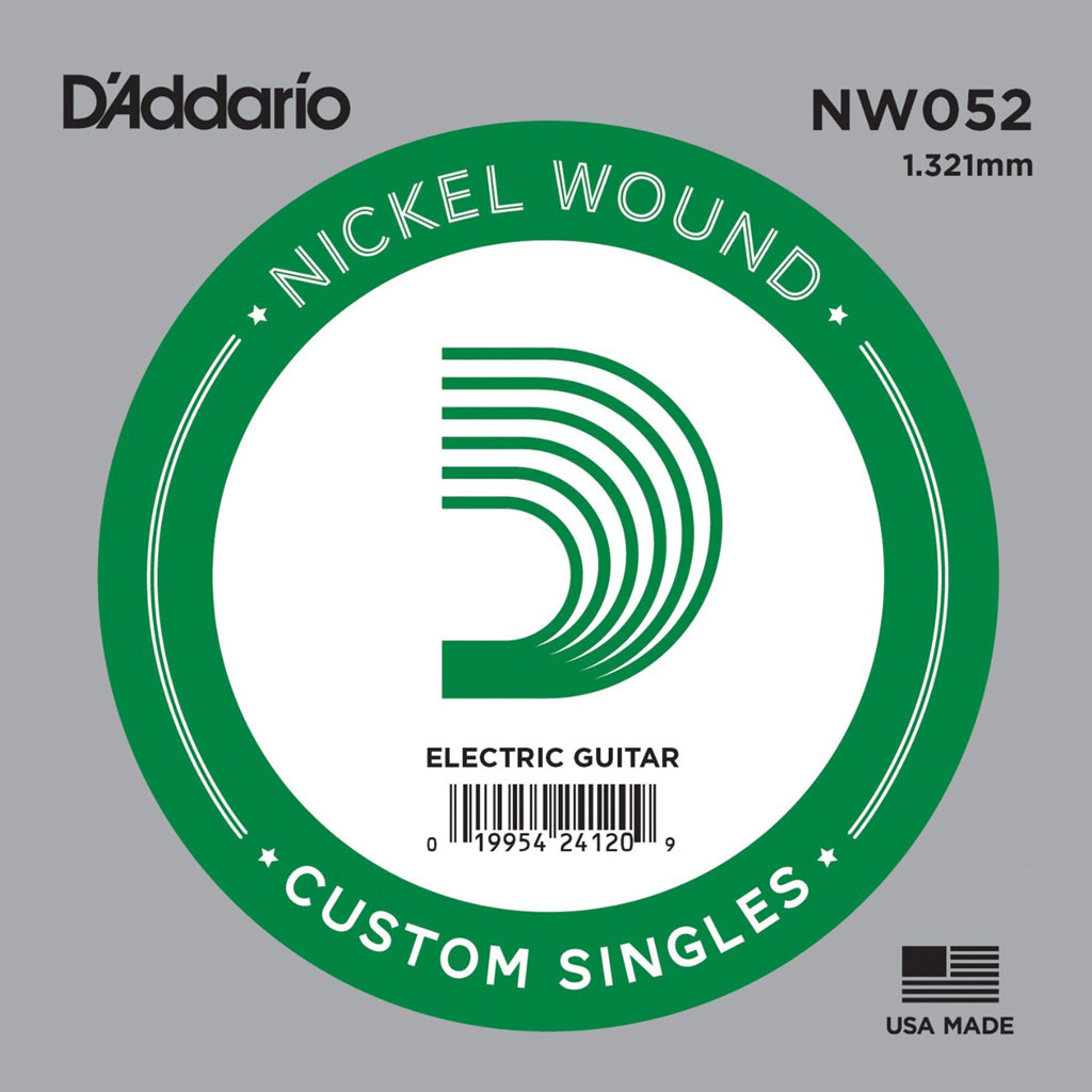 D'Addario NW052 Single XL Nickel Wound 052 - Bananas At Large®