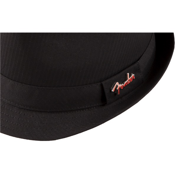 Fender Fedora Black Self Stripe with Pin, Black, S/M - Bananas At Large®