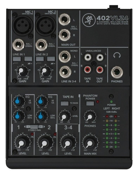 Mackie 402VLZ4 VLZ 4-channel Ultra Compact Mixer - Bananas at Large