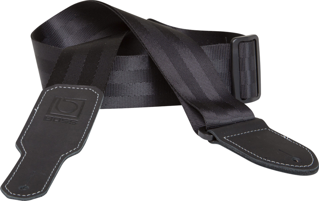 Boss BSB-20 2 in. Seatbelt Guitar Strap - Black - Bananas at Large