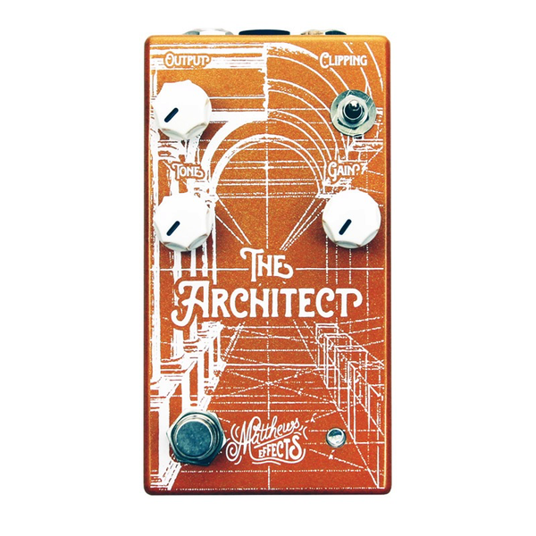 Matthews Effects The Architect Amp Inspired Overdrive Pedal with 3 Different Clipping Options - Bananas at Large - 1