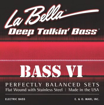 LaBella Set 767-6F Flat Wound For Six String Bass - Bananas at Large