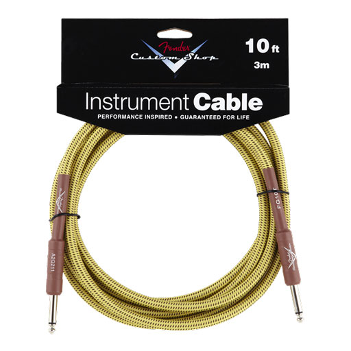 Fender Custom Shop Performance Series 10ft Cable Straight to Straight - Tweed - Bananas At Large®