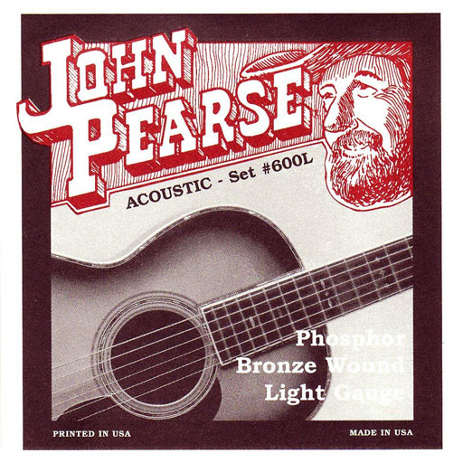 John Pearse 600L Phosphor Bronze Wound Acoustic Guitar Strings - Light - Bananas At Large®