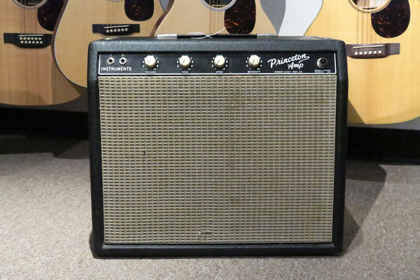 Fender Vintage Transition Era 1963 Princeton Combo Mod'd (Joe Satriani Private Collection)(Pre-Owned) - Bananas at Large - 1