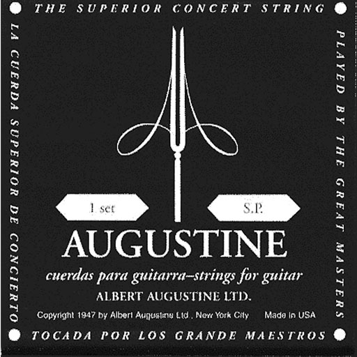 Augustine Regular Trebles Low Tension Classic Black Strings - Bananas At Large®