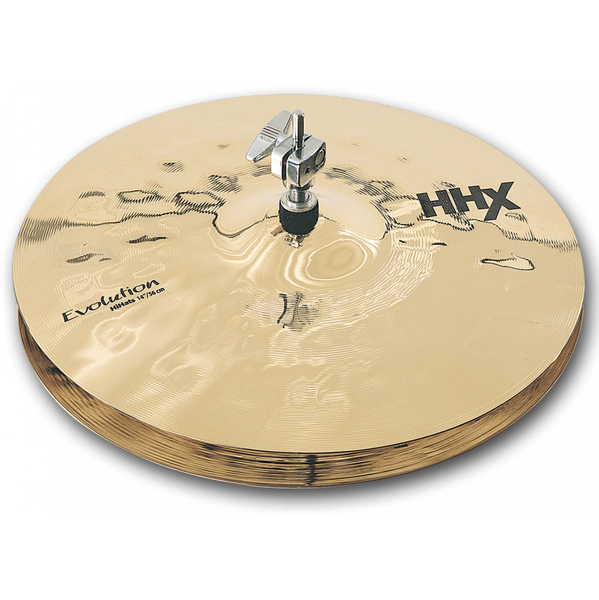 Sabian 11402XEB 14 in. HHX Evolution Hi-Hat Cymbals Brilliant Finish - Bananas at Large