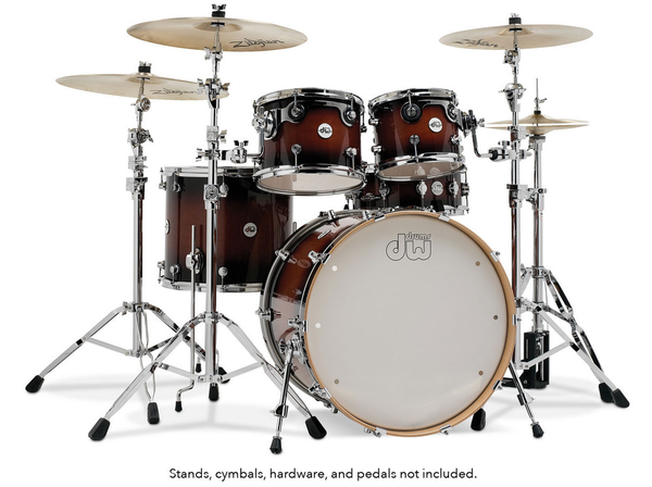 DW DDLG2215TB Design Series 5 Piece Drum Kit - Tobacco Burst