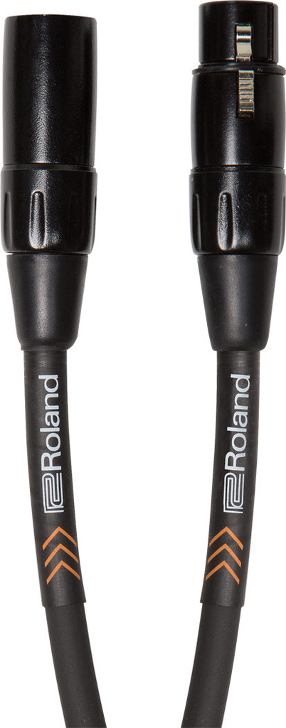 Roland RMC-B3 Black Series 3ft. Microphone Cable with Heavy Duty XLR Connectors - Bananas at Large