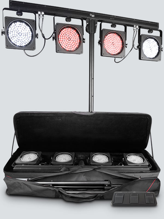 Chauvet 4BAR USB Includes: Carry Bag, Tripod, Tripod Carry Bag, Footswitch