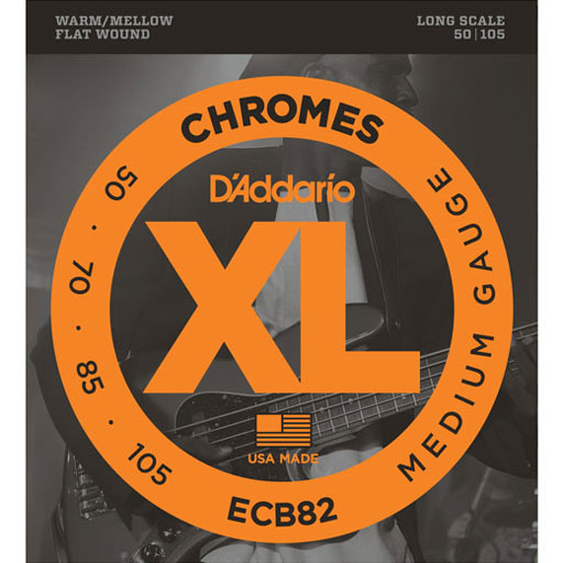 D'Addario ECB82 Chromes Bass Strings Medium 50-105 Long Scale - Bananas At Large®