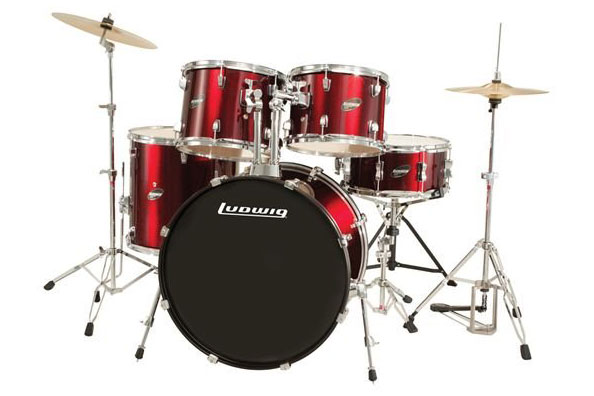 Ludwig LC1754 Accent Drive 5 Piece Drum Kit - Wine Red - Bananas at Large