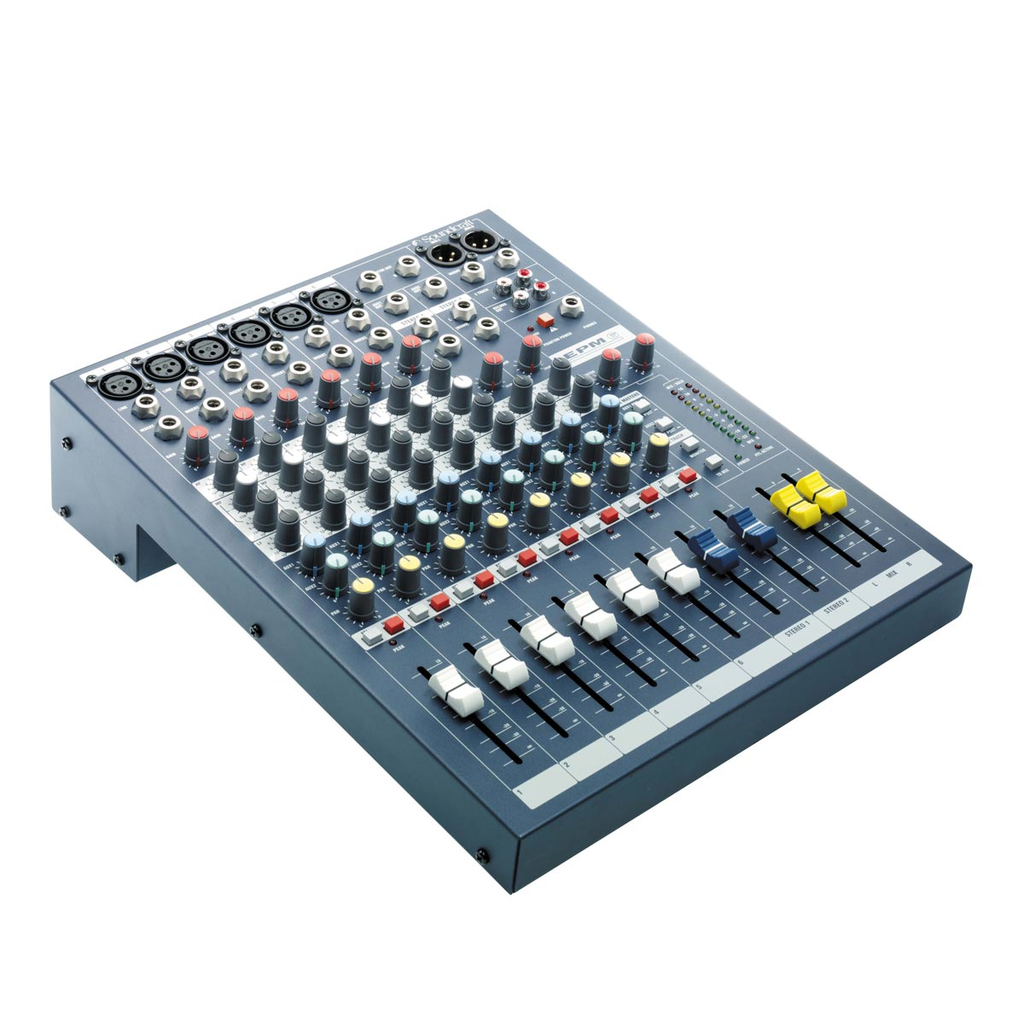 Soundcraft EPM6 Six Channel Mixer with EQ, 2 Aux Sends and GB30 Preamps - Bananas at Large