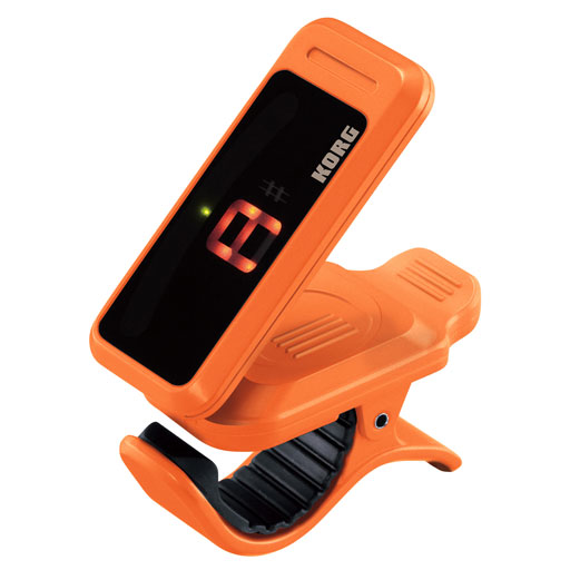 Korg PC1CP Pitchclip Compact Clip-On Chromatic Tuner - Orange