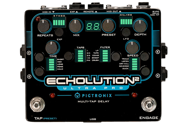 Pigtronix Echolution 2 Ultra Pro Multi-Tap Delay Pedal