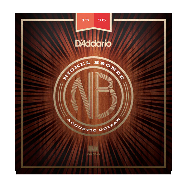 D'Addario NB1356 Nickel Bronze Medium Acoustic Guitar Strings 13-56 - Bananas At Large®