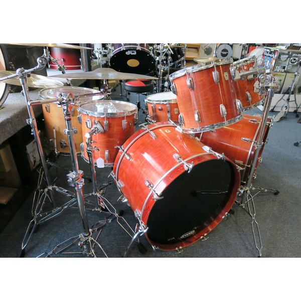 Ludwig Classic USA Modded 7pc Set Semi-Trans-Orange (Pre-Owned) - Bananas at Large - 1