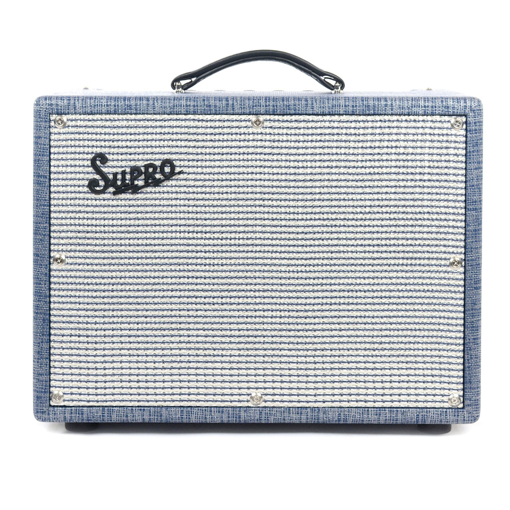 Supro 1622RT Tremo-Verb 1x10 25 Watts Vintage Reissue American Class-A All Tube Combo Amp - Bananas at Large
