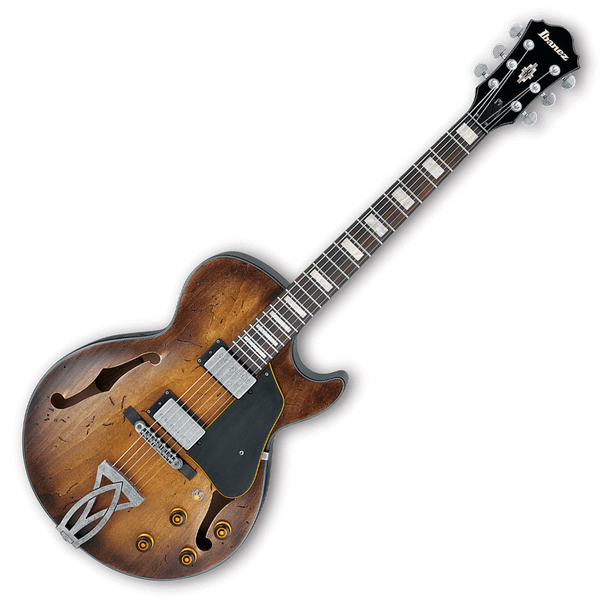 Ibanez AGV10ATCL Artcore Vintage Hollow Body Guitar - Tobacco Burst Low Gloss - Bananas at Large