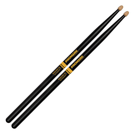 Promark R5BAG Rebound 5B ActiveGrip Acorn Tips Drum Sticks - Bananas at Large