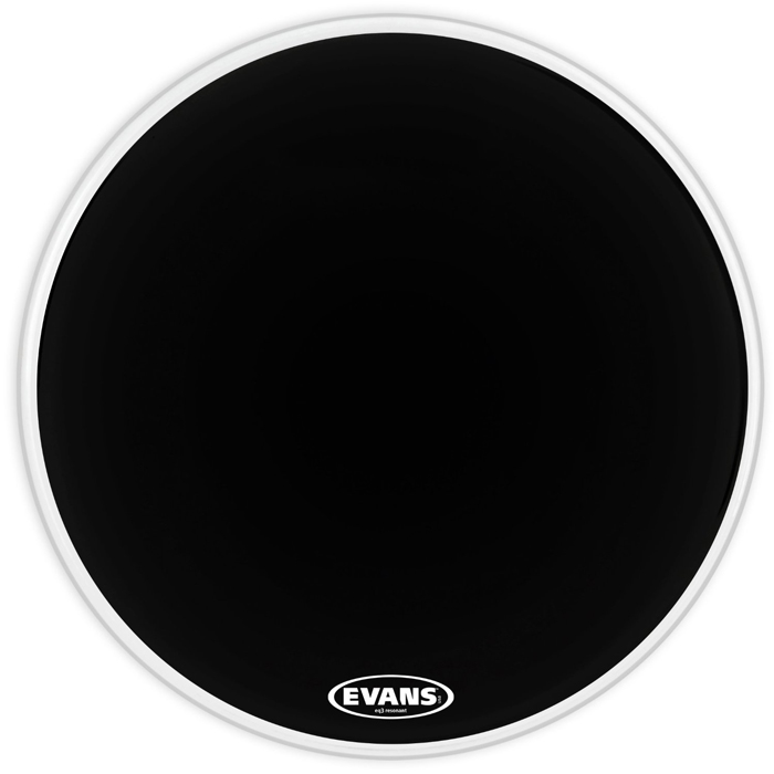 Evans BD22RB-NP 22 in. EQ3 Black Resonant No Port - Bananas At Large®