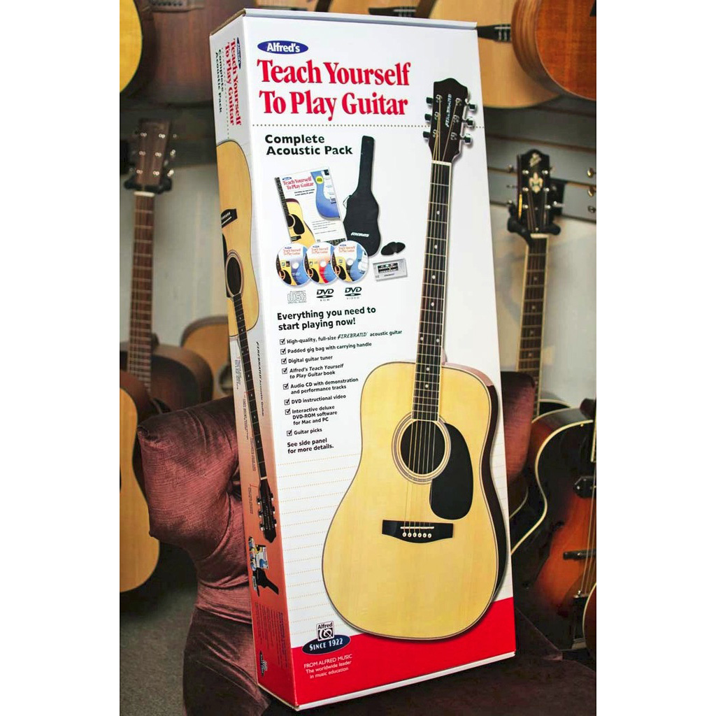 Alfred Teach Yourself to Play Guitar, Complete Acoustic Pack - Bananas at Large - 1