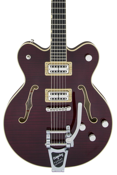 Gretsch G6609TFM Players Edition Broadkaster - Dark Cherry Stain
