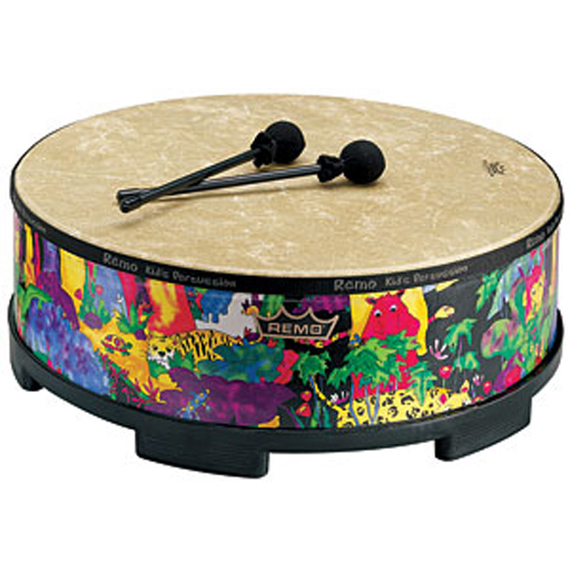 Remo KD-5822-01 Kids Gathering Drum with Mallets - Bananas at Large