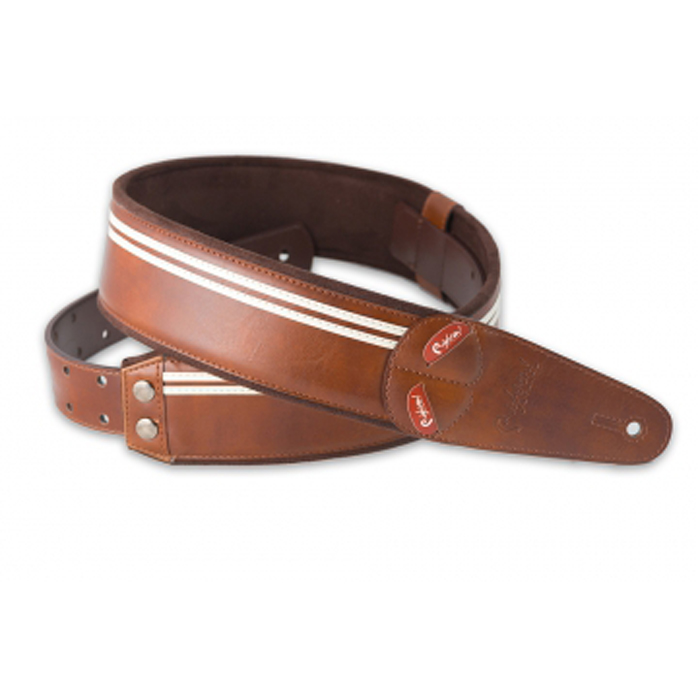 RightOn! Mojo Guitar Strap Race Brown - Bananas at Large