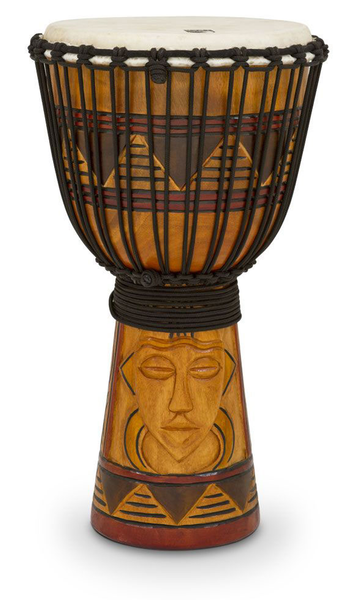 Toca TODJ-12TM Origins Series Rope Tuned Wood 12 in. Djembe - Tribal Mask - Bananas at Large