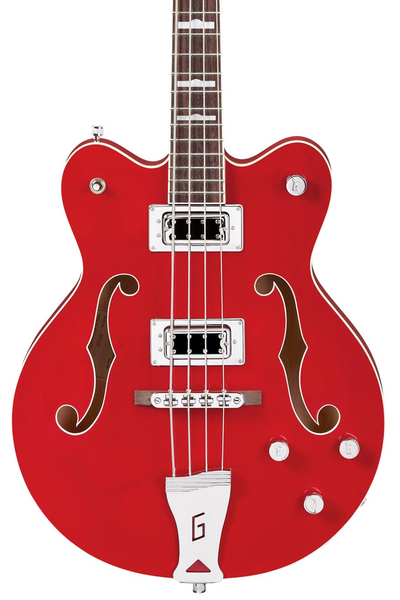 Gretsch G5442BDC Electromatic Hollow Body Short Scale Bass with Rosewood Fingerboard - Transparent Red