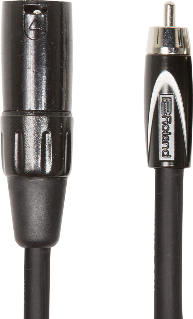 Roland RCC-10-RCXM Black Series 10ft. Interconnect Cable with XLR Male to RCA - Bananas at Large