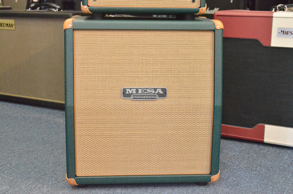 Mesa/Boogie 1X12 Mini Recto Slant Cabinet - Emerald Green/ Tan