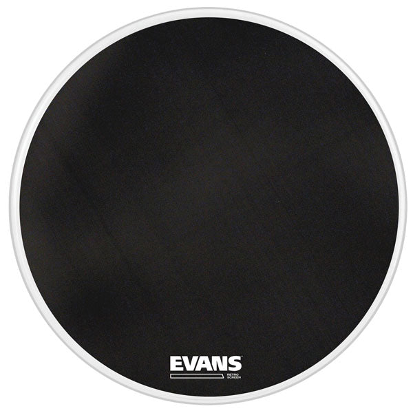 "Evans 22"" Retro Screen Bass Drum Head - Black"