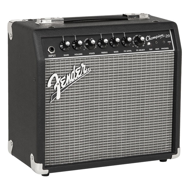 Fender Champion 20 Guitar Combo Amp - Black and Silver