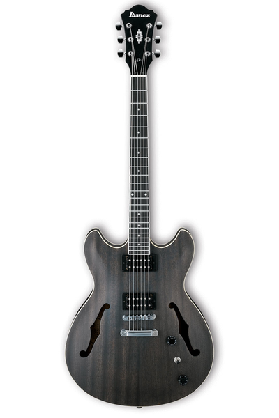 Ibanez AS53 Artcore Semi Hollow Body Electric Guitar - Transparent Black Flat - Bananas at Large