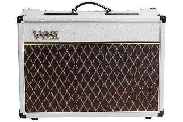 Vox AC15C1 15 Watt Limited Edition Guitar Combo Amp - White Bronco