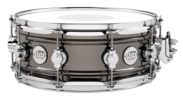 DW DDSD5514BNCR Design Series Black Nickel Over Brass 5.5x14 Snare Drum