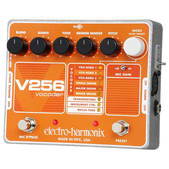 Electro Harmonix V256 Vocoder with Reflex-Tune 9.6DC-200 PSU included - Bananas at Large