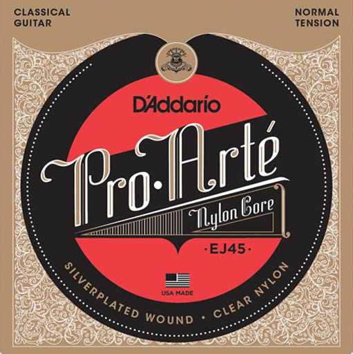 D'Addario EJ45 Pro-Arte Nylon Classical Guitar Strings (Normal Tension) - Bananas At Large®