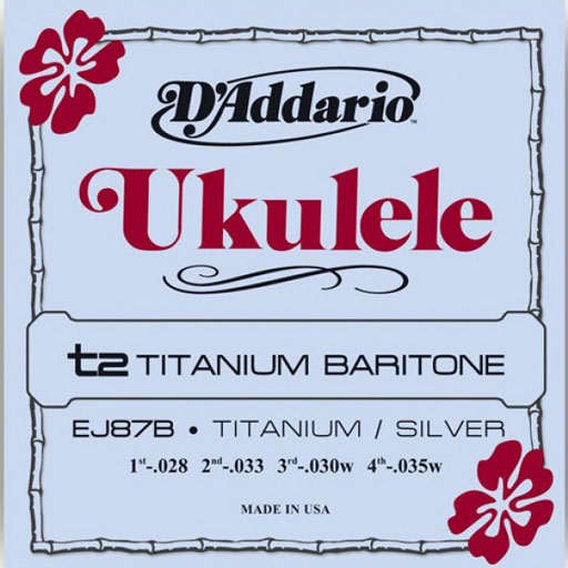 DAddario EJ87B Titanium Baritone Ukulele Strings - Bananas At Large®