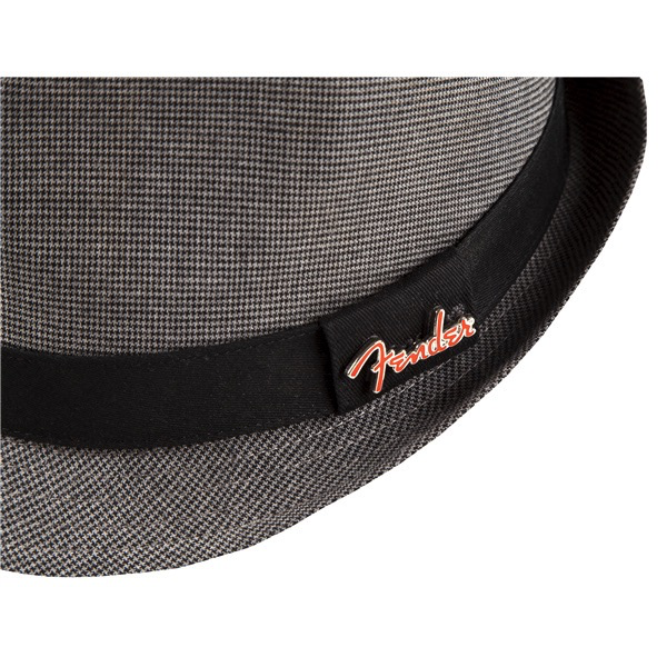 Fender Fedora Black/Gray Check with Pin, L/XL - Bananas At Large®