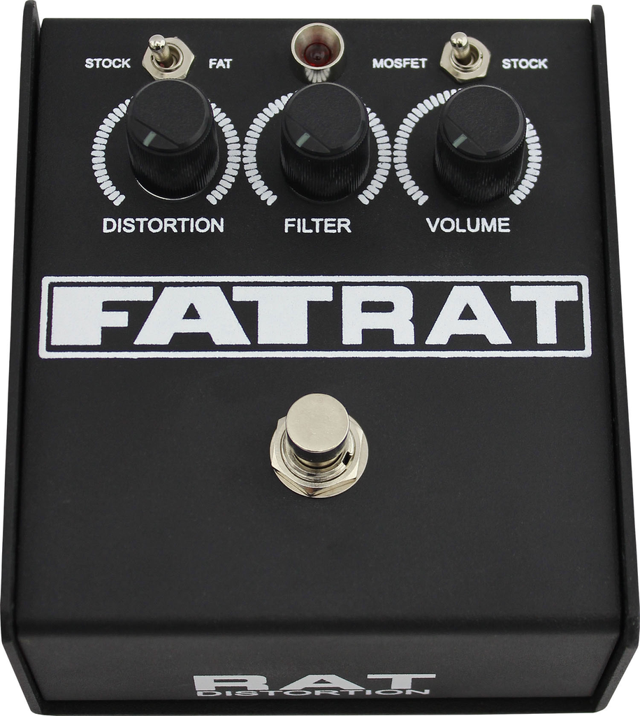 ProCo FAT RAT Distortion Pedal with Selectable Mosfet Clipping and Thick Boost