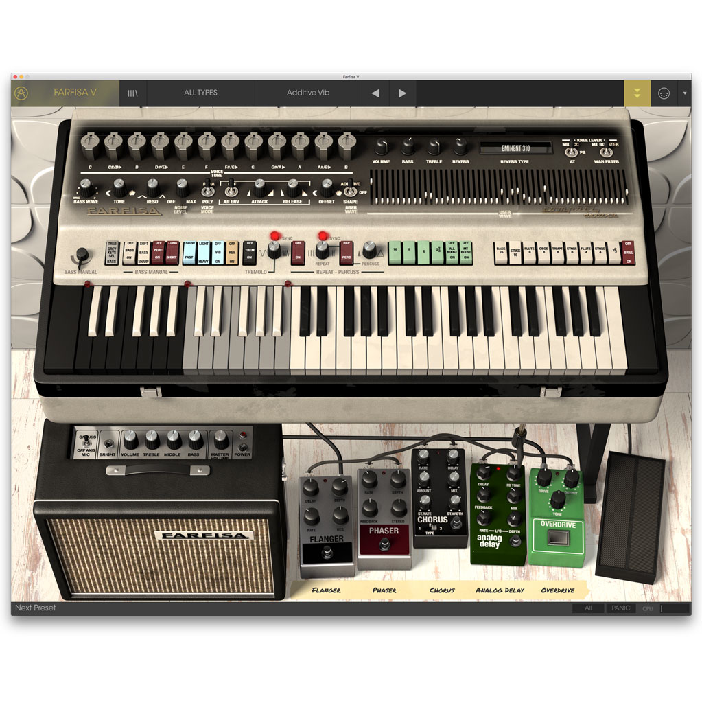 Arturia Farfisa V License Software Organ [Download] - Bananas At Large®