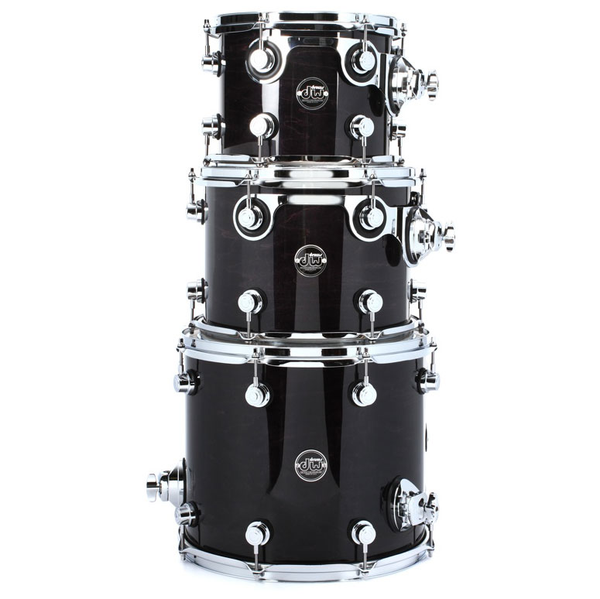 DW Performance Series 3-Piece Tom Pack - Ebony Stain - Bananas at Large