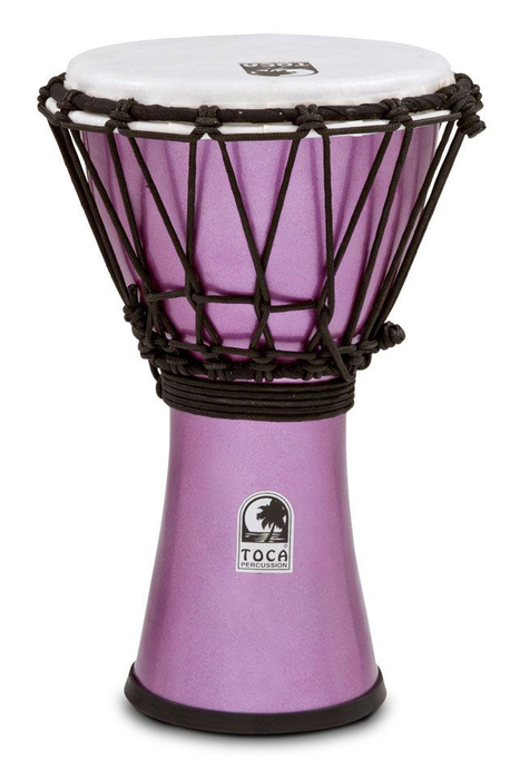 Toca TFCDJ-7MV Freestyle Colorsound 7 in. Djembe - Metallic Violet - Bananas at Large