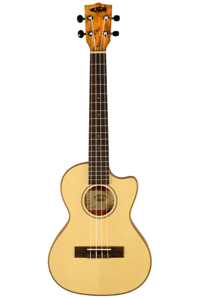 Kala Thinline Travel Series Tenor Ukulele with Gig Bag - Spalted Maple