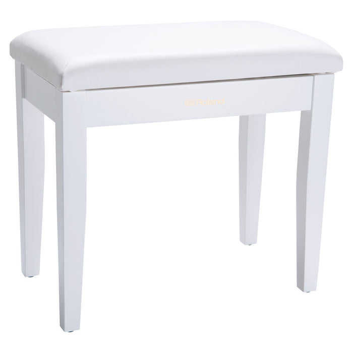 Roland RPB-100 Piano Bench with Storage Compartment - Satin White