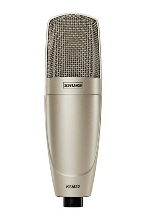 Shure KSM32/SL Embossed Single-Diaphragm Microphone with Shock Mount and Case - Champagne - Bananas at Large