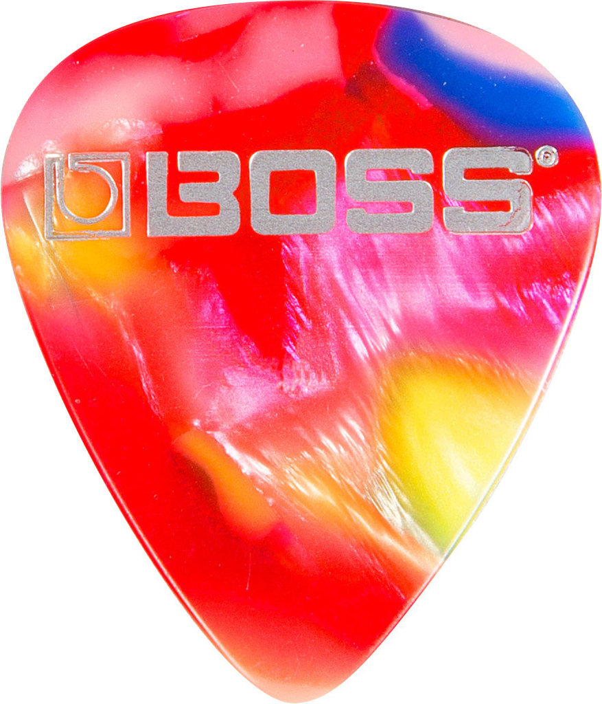 Boss BPK-12-MH 12 Pack of Heavy Celluloid Mosaic Guitar Pick - Bananas at Large